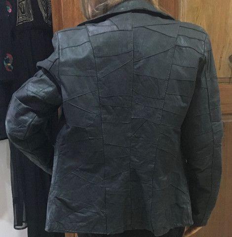 Casaco e calça 100% couro legitimo novo R$290,00 C. Frio - Foto 3