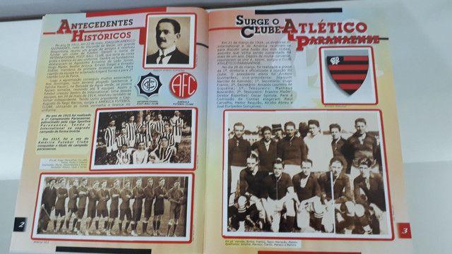 Álbum de figurinhas história ilustrada clube atlético Paranaense  - Foto 4