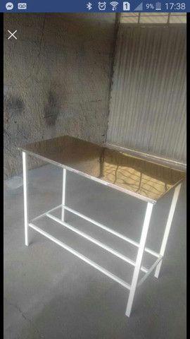Mesa em aço inox - Foto 2