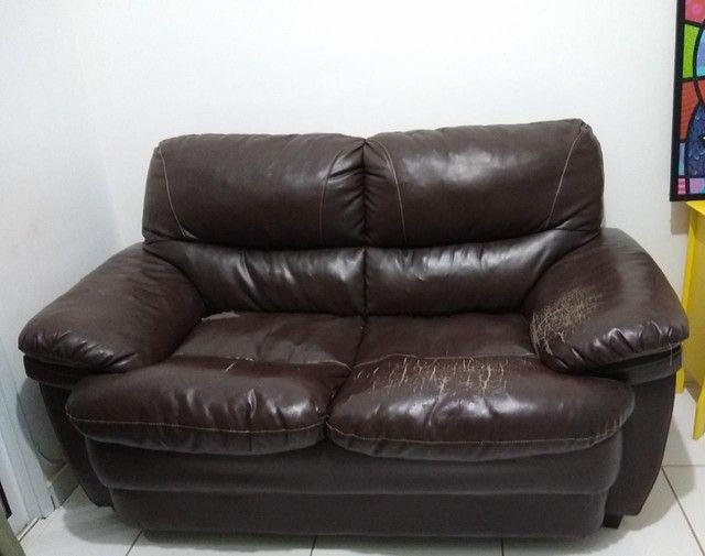 Sofá usado de 2 lugares - Foto 2