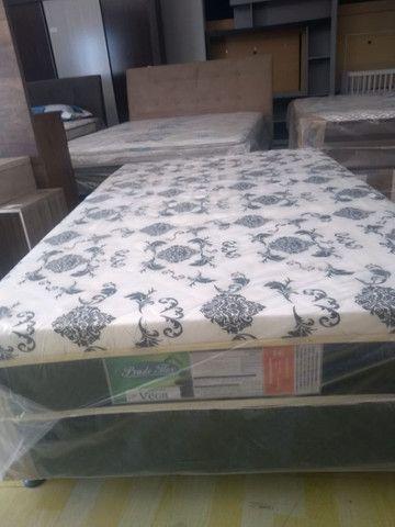 Cama box Viúvo com 10 cm espuma 1,20x 1,88 - Novo - Foto 3