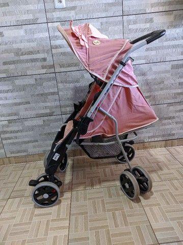 Faço entrega Carrinho De Bebê Berço Thor Plus Até 15 Kg, Tutti Baby, Rosa - Foto 2