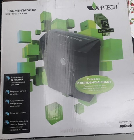 Fragmentadora de papel 12fls em tiras S1200 App-tech - Foto 5