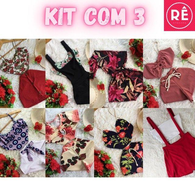 Kit 3 Conjuntos Femininos