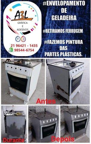 Envelopamento de geladeira - Foto 4