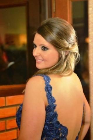 Vestido Gala azul c/ Swarovski tam. 40 - Porto Alegre/RS