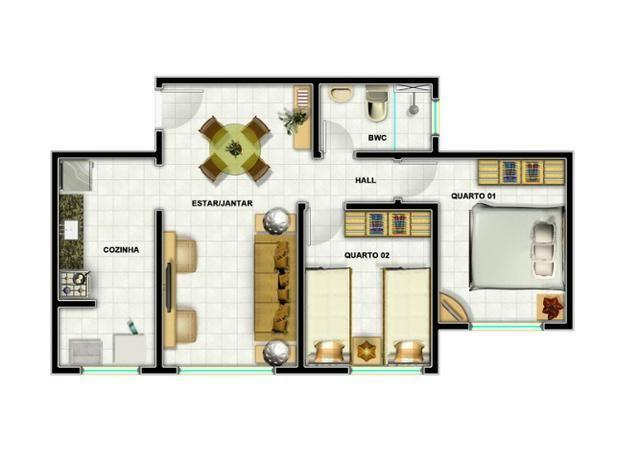 Apartamento Pronto Zona Norte, ótima localização à partir de 120 mil
