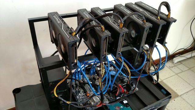 Mining RIG Mineração 3x Sapphire Radeon RX 470 Nitro +