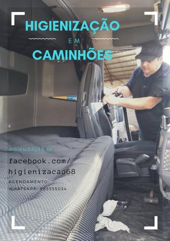 Higienização interna em Caminhões e Ônibus - Foto 2