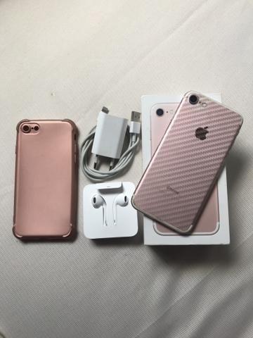 IPhone 7 32GB Rose com Caixa e Acessórios Entrego
