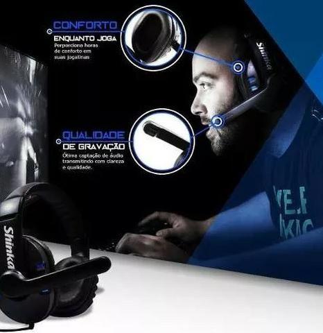 Fone Ouvido Gamer Usb Headphone Microfone Ps4 Pc Notebook .5.1 - Foto 2
