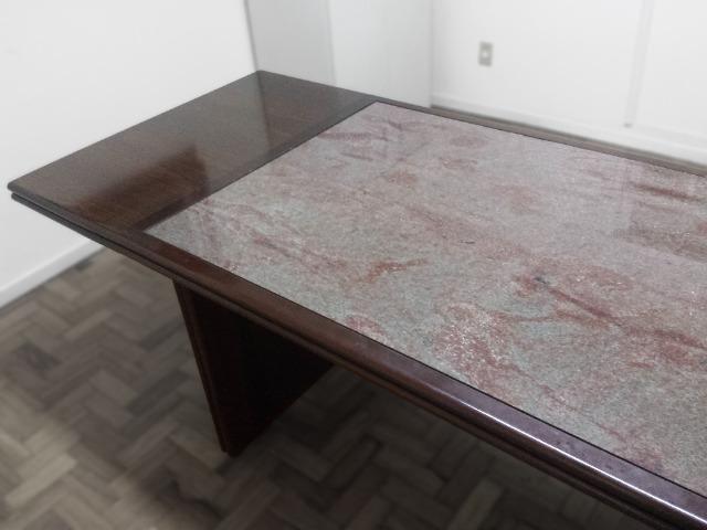 Mesa de Reunião em Madeira e Granito - Foto 3