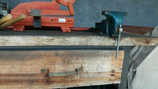 Bancada de madeira mais ferramentas para oficinas - Foto 2