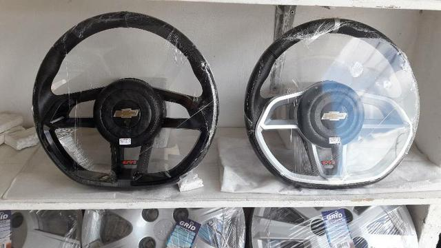 Volante GTI Cor preto para Celta, Corsa Classic, Corsa Wind, prisma  - Foto 2