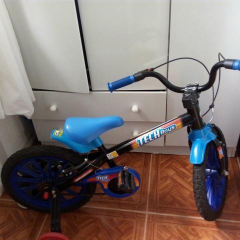 Bicicleta infantil aro 16 impecável quase sem uso