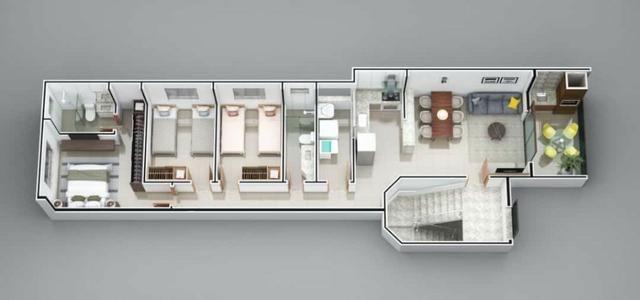 Apartamento em Ipatinga. Cód. A202. 3 quartos/suíte, sacada gourmet, 90 m². Valor 250 mil - Foto 7