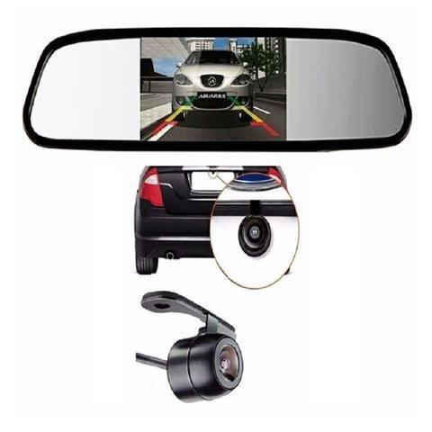 Espelho retrovisor com tela lcd 4,3 + câmera de ré universal,novos - Foto 3