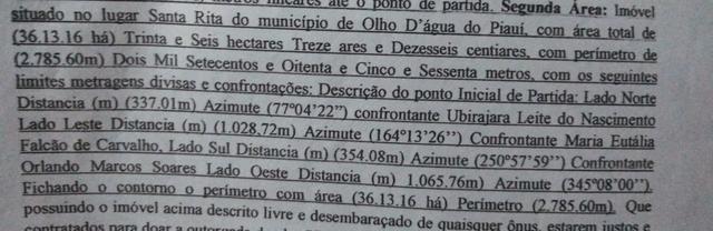 Vendo 36 hectares e 2 lotes com 60mts² LEIAM A DESCRIÇÃO