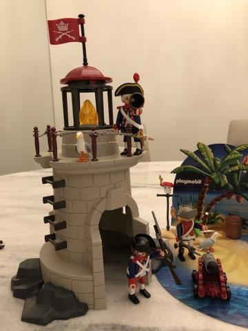 Vendo Farol + Ilha do Tesouro da Playmobil - Foto 4