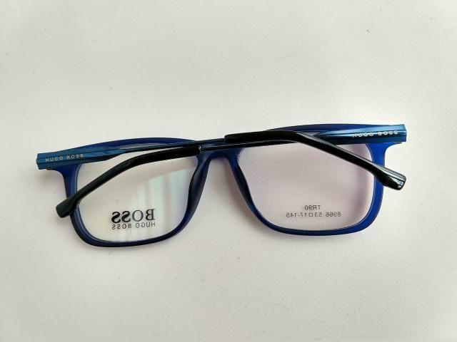 4b1998a419943 Hugo Boss armação óculos azul preto masculino - Bijouterias ...