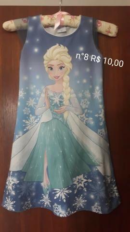 Vestido infantil da Frozen