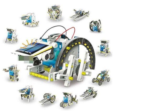 Kit Educacional Montagem Robô Solar 13 em 1 - Foto 4