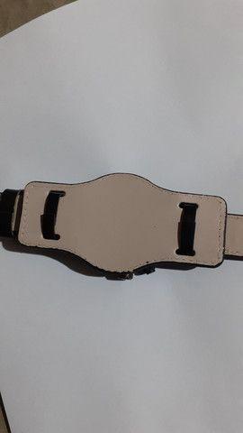 Relógio Curren pulseira de couro masculino - Foto 4