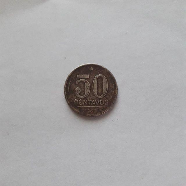Moeda antiga 50 centavos