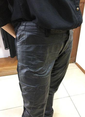 Casaco e calça 100% couro legitimo novo R$290,00 C. Frio - Foto 4