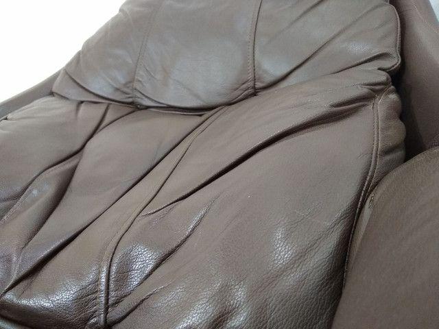 Poltrona reclinável em couro legítimo. - Foto 3