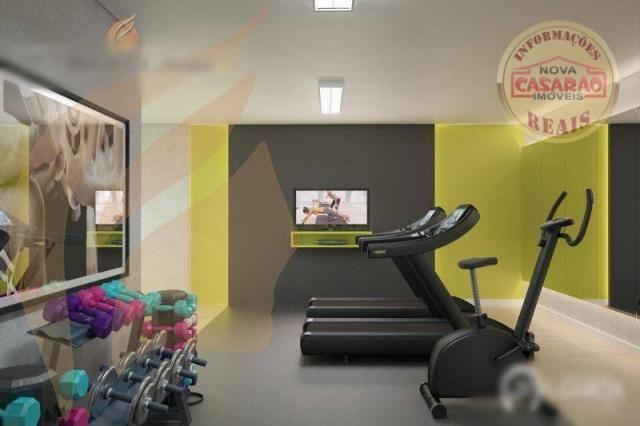 Apartamento com 2 dormitórios à venda, 93 m² por R$ 465.000 - Aviação - Praia Grande/SP - Foto 13