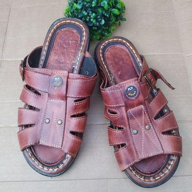 Sandálias em couro  - Foto 4