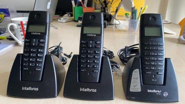 Vendo 03 aparelhos sem fio intelbras digital,semi novo. Pouco uso. Valor de apenas um.
