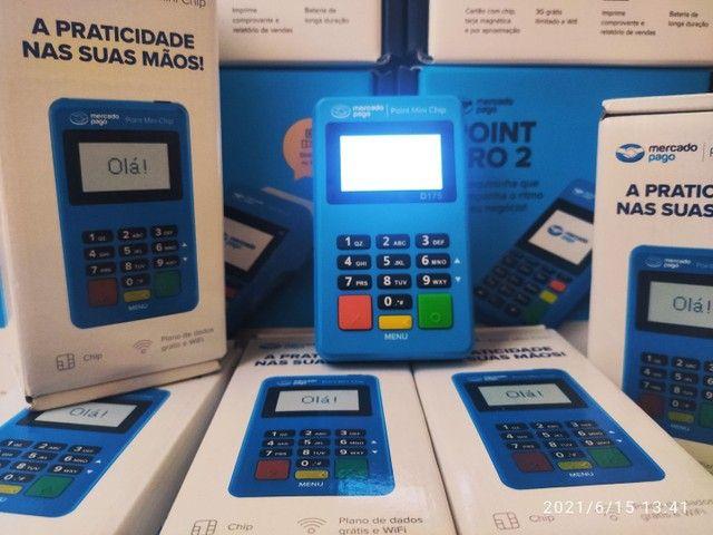 Maquininha Point Mini Chip - não precisa de celular - Foto 2