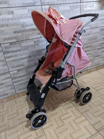 Faço entrega Carrinho De Bebê Berço Thor Plus Até 15 Kg, Tutti Baby, Rosa