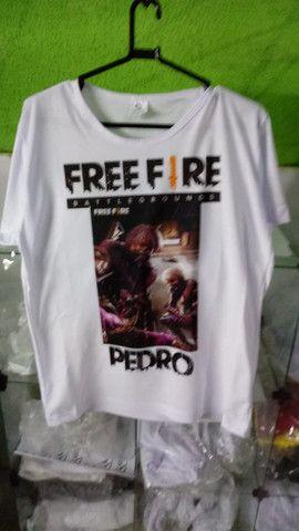 FreeFire camisas - Foto 4