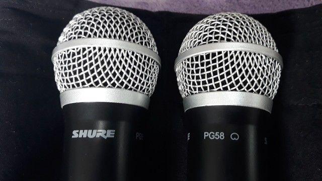Microfone sem fio SHURE DUPLO BLX88 PG 58