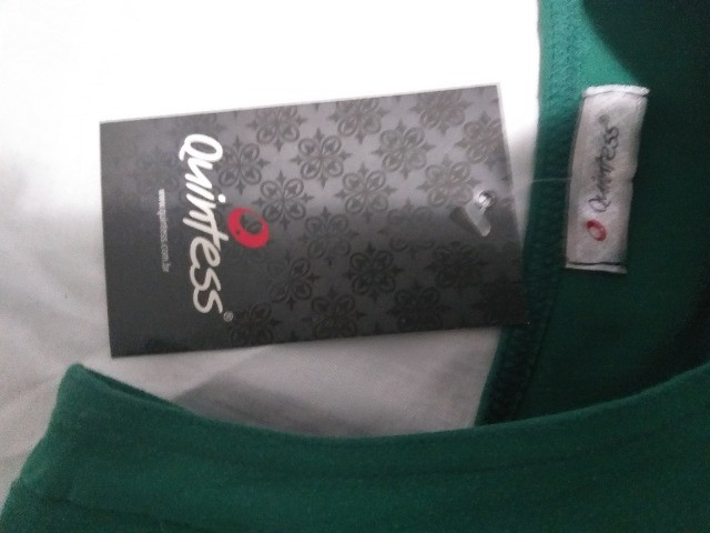 vestido verde  da quintess   meio ombro  -P- - Foto 3
