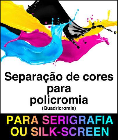 Separação de cores para serigrafia ou silk-screen
