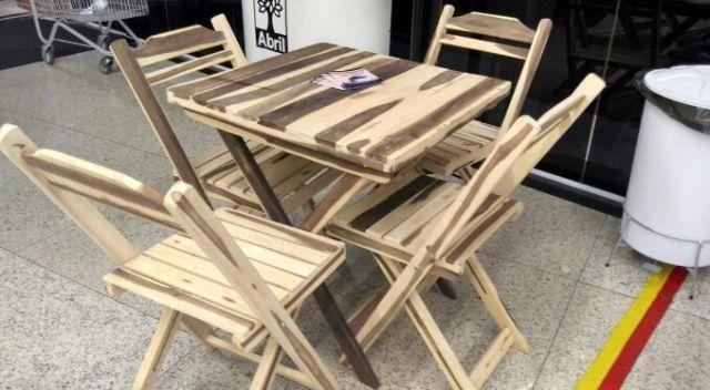 Mesas de madeira 70x70