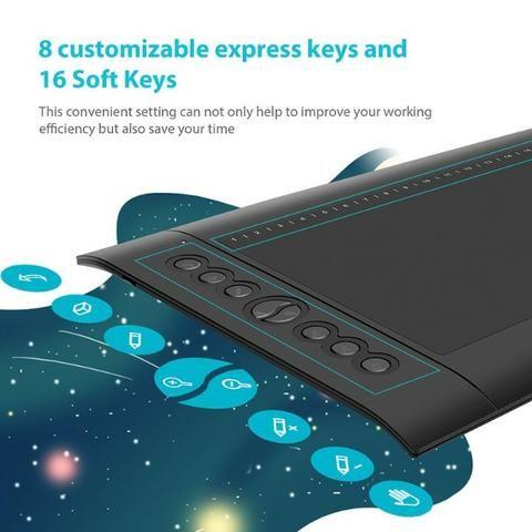 Huion H610 Pro V2 - Tablet Gráfico Profissional - Foto 4