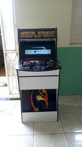 Bartop tela de 19 polegadas com 7 mil jogos sistema linux batocera - Foto 2