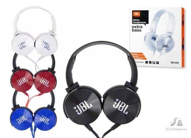 Fone Ouvido Com Fio Extra Bass P2 Jbl Xb-450 Promoção