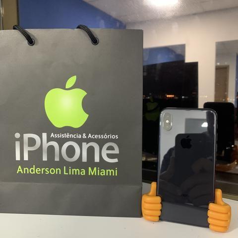 IPhone X 255GB seminovo, somos loja, aceito seu iPhone usado como parte do pagamento