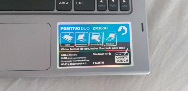 "VENDO Notebook Positivo DUO tela TOUCH 11.6"" - Foto 2"