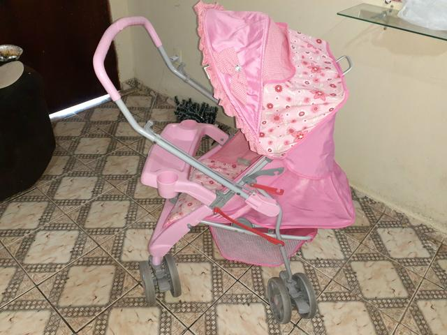 ?carrinho de bebê tutti baby rosa !!!? - Foto 2