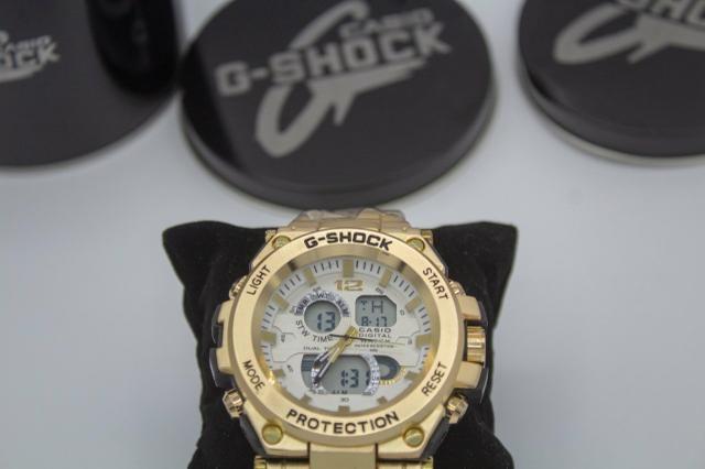 Relógio de pulso G-shock Full metal dourado barato - Foto 6