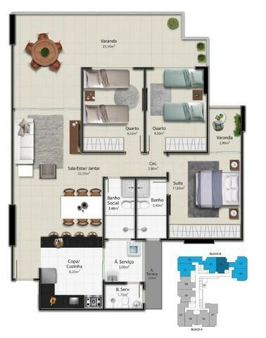 04-(COD1128) apartamento 3 quartos, Praia do Morro, Oportunidade! - Foto 2