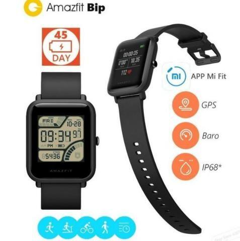 Relógio Smartwatch Xiaomi Amazfit Bip + pulseira reserva + pelicula - Foto 5