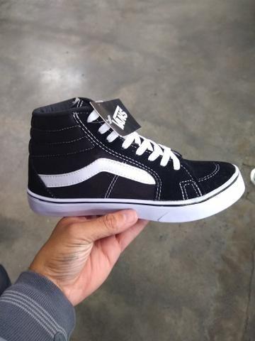1430238ce Tênis vans Old Skool Cano alto preto com branco - Roupas e calçados ...